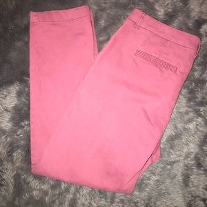 Syle & Co Burgundy Chino Pants with Pocket Detail